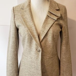 Elevenses Anthropologie Gray Blazer Jacket Size 8